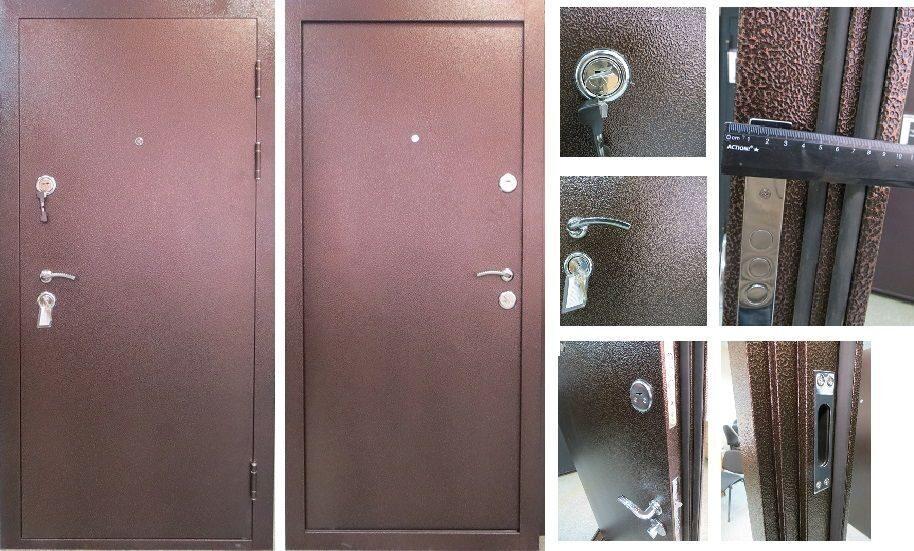 теплые железные двери толщиной 100 мм