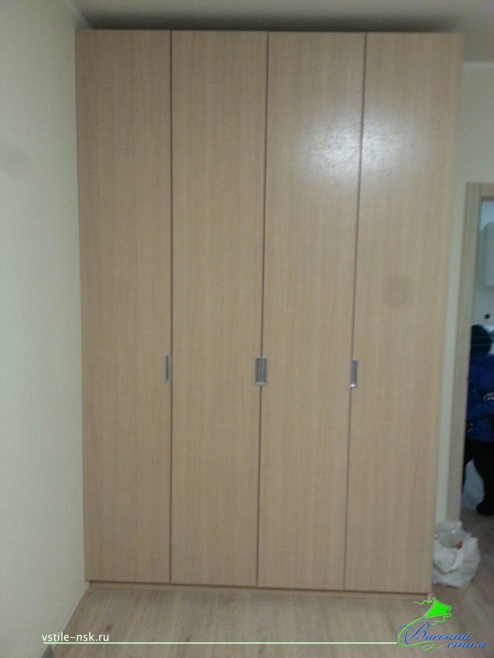 Шкаф с распашными дверями (врезные ручки) некоторые примеры .